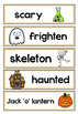 Halloween Topic Word Wall Cards