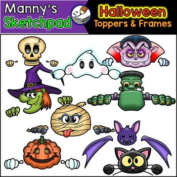 Halloween Toppers & Frames