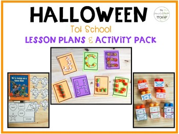 Halloween Tot School : Lesson Plans and Activity Pack