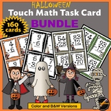 Halloween Touch Math Addition and Subtraction Task Card Bundle