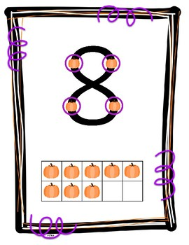 Halloween TouchMath Posters