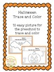 Halloween Trace and Color the Picture Easy