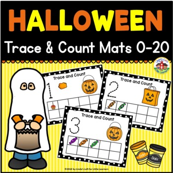 Halloween Trace and Count Mats 0-20