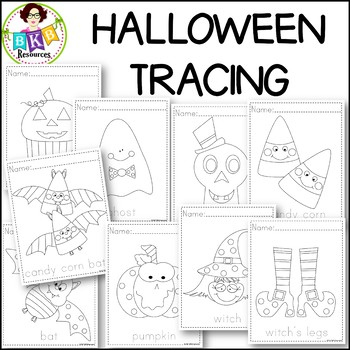 Halloween Tracing Activity Sheets ● Tracing Activity ● Pre-Writing ● NO Prep