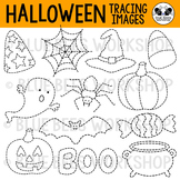 Halloween Tracing Clip Art