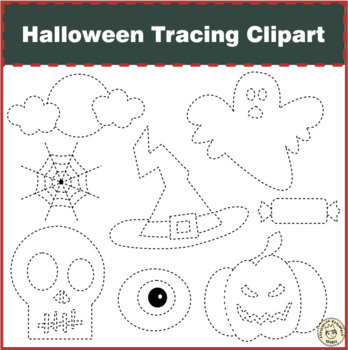 Halloween Tracing Clipart