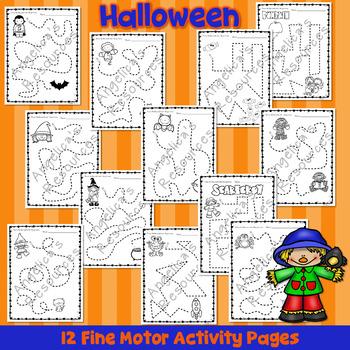 Halloween Activities - Fine Motor Tracing Activity Printables