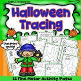 Halloween Activities: Fine Motor Skills Handwriting Worksheets Tracing Lines