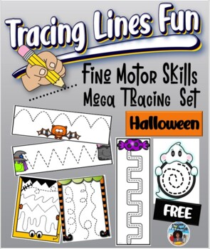 halloween tracing lines fun fine motor skills tracing cards set by dp sharpe. Black Bedroom Furniture Sets. Home Design Ideas
