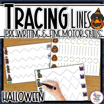 Halloween Tracing Lines for Path of Motion & Fine Motor Skill development