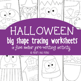Halloween Tracing Pages {Fine Motor + Prewriting}