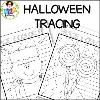 Halloween Tracing Pages●Full Page Tracing Activity ●Pre-Writing Tracing Practice
