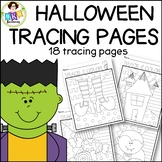 Halloween Tracing Pages●Full Page Tracing Activity ●Pre-Wr