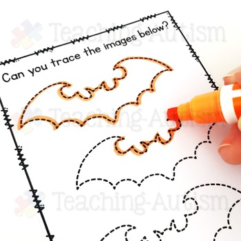 Halloween Tracing Task Cards