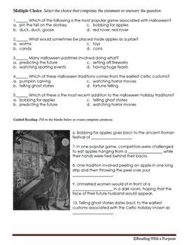 Halloween Traditions: 4th Grade Common Core