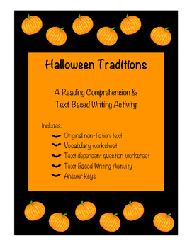 Halloween Traditions - A Reading and Writing Activity Set
