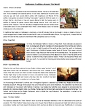 Halloween Traditions Around The World - Reading Comprehens