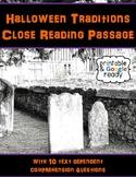 Halloween Traditions Close Reading Passage