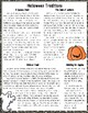 Halloween Traditions Close Reading Passage and Questions