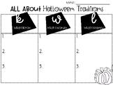 Halloween Traditions KWL Activity