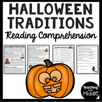 Halloween Traditions Reading Comprehension Worksheet- October