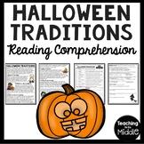 Halloween Traditions Reading Comprehension Worksheet- October