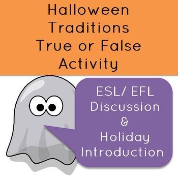 Halloween Traditions True or False for EFL class