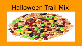 Halloween Trail Mix Riddle-Adding, Subtracting, and Multiplying Fractions