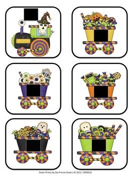 Halloween Train Shape Set