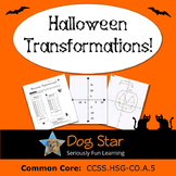 Halloween Transformations HS Geometry Activity – Aligned to Common Core