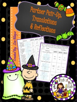 Halloween Transformations:  Translations & Reflections