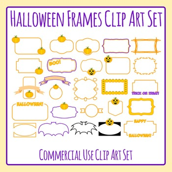 Halloween Transparent Frames / Borders 26 Images Clip Art Commercial Use