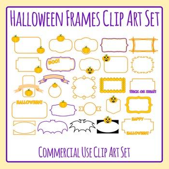 Halloween Transparent Frames / Borders 26 Images Clip Art Commercial Use