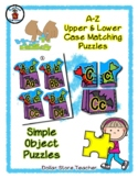 Halloween Treat Bag - Alphabet / Letter Puzzles - Simple Objects