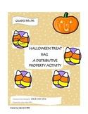 Halloween Treat Bag (Distributive Property Activity)
