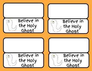 Halloween Treat Bag Labels Religious
