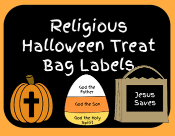 Halloween Treat Bag Labels Religious
