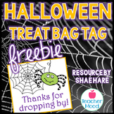 Halloween Treat Bag Tag - FREEBIE - Parent Teacher Conference or Student Gift