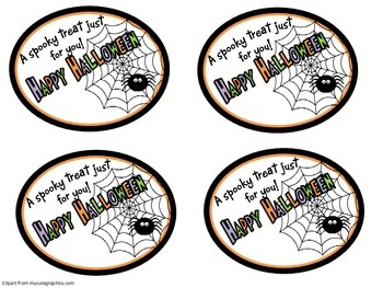 Halloween Treat Bag Tags