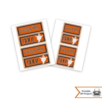 Halloween Treat Bag Toppers for Classroom Party Favors,
