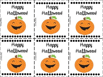 Halloween Treat Labels