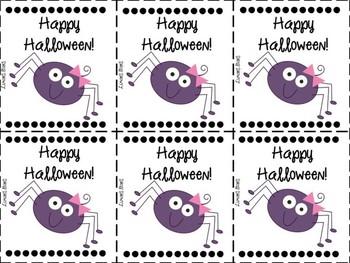 Halloween Treat Labels