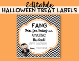 Editable Halloween Treat Labels