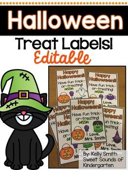 Halloween Treat Labels- EDITABLE!