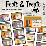 Halloween Treat Tags - Feets and Treats - Editable