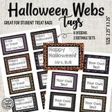 Halloween Treat Tags Webs - Editable