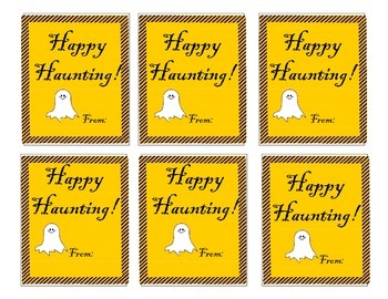 Halloween Treat Tags and Bookmark