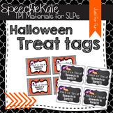 Halloween Treat Tags for SPEECH
