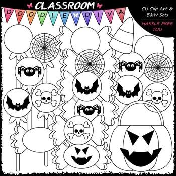 Halloween Treats Clip Art - Halloween Clip Art - Candy