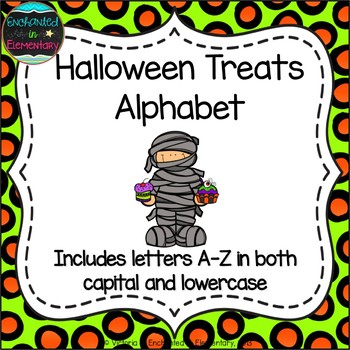 Halloween Treats Alphabet! Letter and Sound Recognition Game